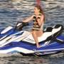 Gigi Hadid Riding a Boat in Greece