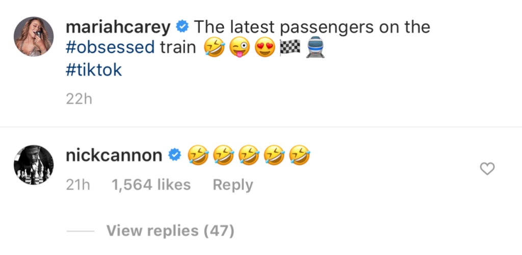 Nick Cannon Comments on Mariah Carey's Instagram