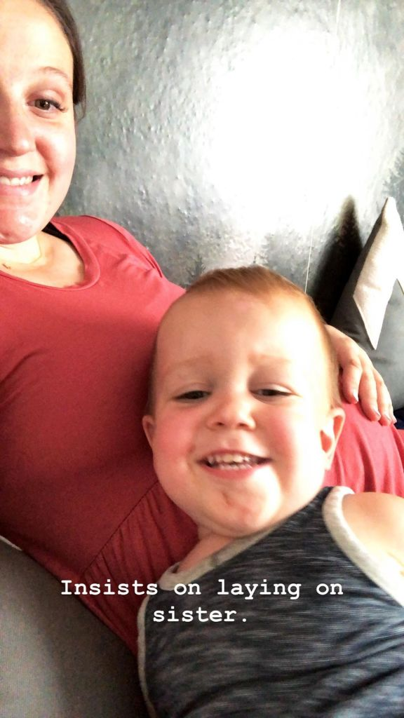 Jackson Roloff Lays on Pregnant LPBW Mom Tori Roloff's Baby Bump