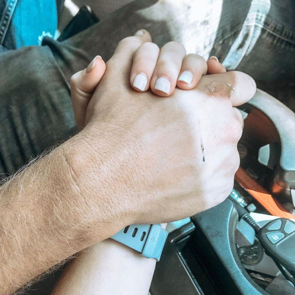 Joy Anna Duggar Austin Forsyth Hold Hands