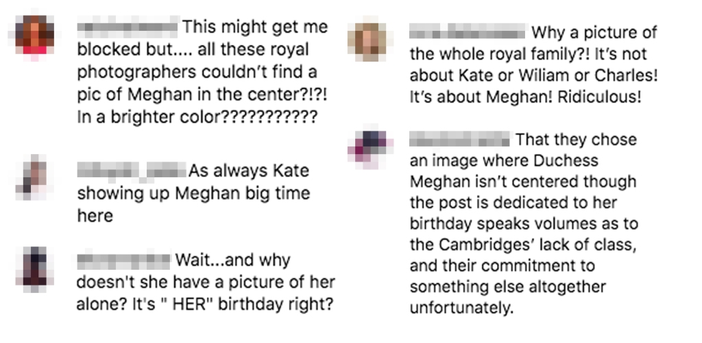 Kate Middleton Prince William Message Meghan Markle Birthday