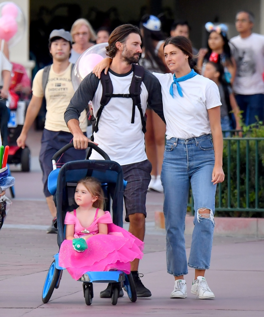 Brandon Jenner Wearing a T-Shirt With Cayley Stoker and Eva at Disneyland
