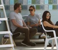 Ben Affleck With Jennifer Garner at the Pool
