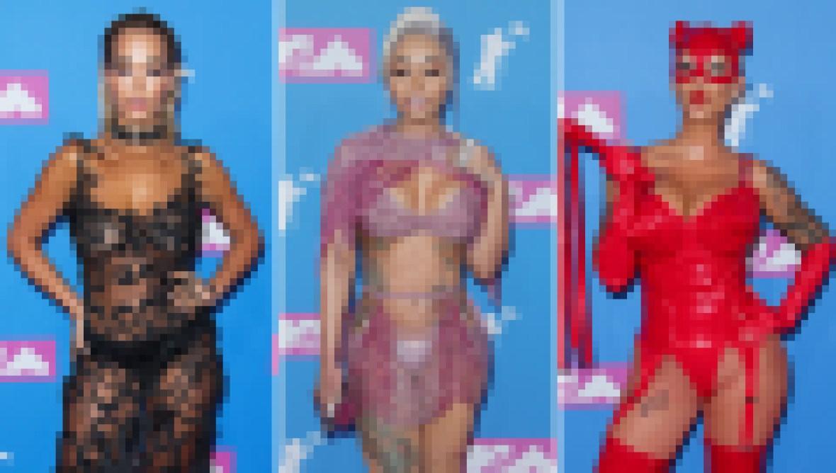 MTV VMAs Outlandish Skin Baring Celeb Fashions