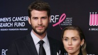Miley Cyrus With Liam Hemsworth Wearing All Black