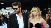 Miley Cyrus Wearing All Black With Liam Hemsworth