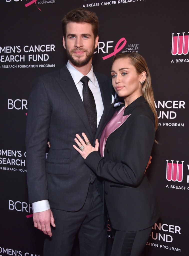 Miley Cyrus and Liam Hemsworth Wearing Black Outfits