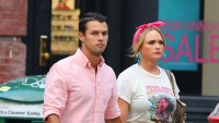 Miranda Lambert With Husband Brendan McLoughlin Wearing a Pink Shirt In NYC