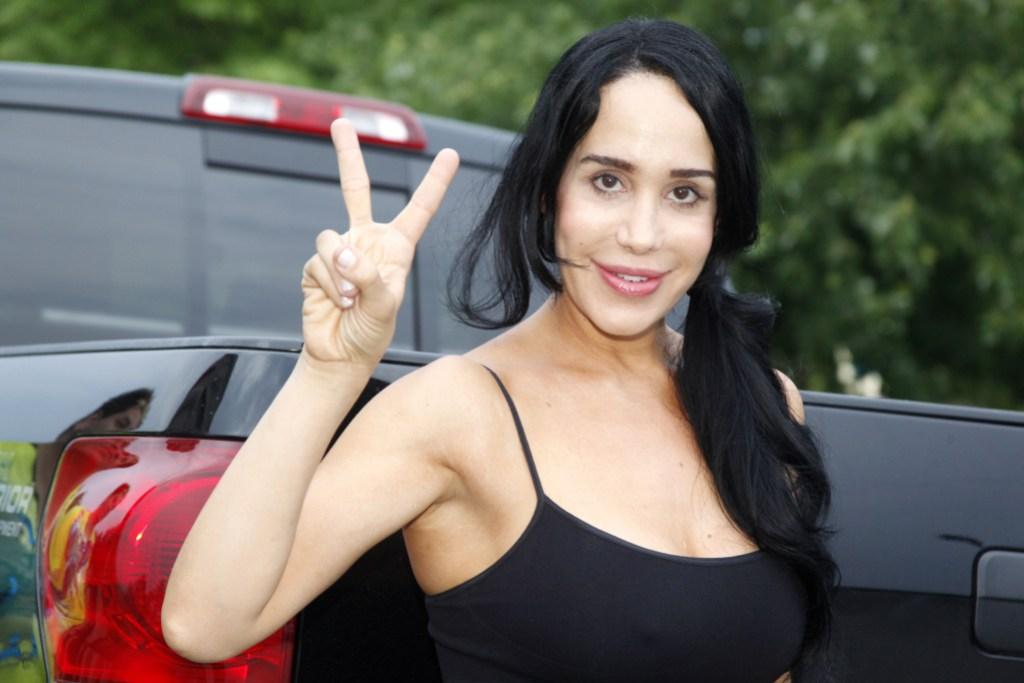 Nadya Suleman Wearing a Black Tank Top