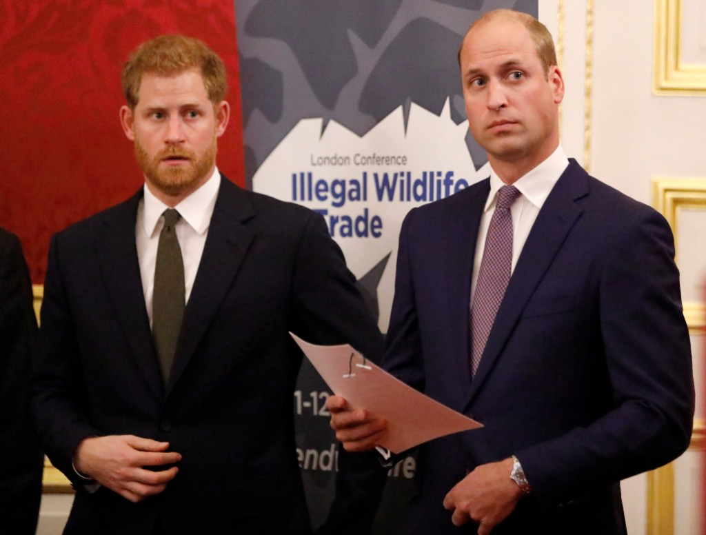 Prince William With Prince Harry in Suits