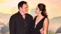 Quentin Tarantino and Wife Danielle Smiling at Each Other