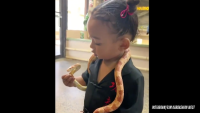 Chicago West Plays With Snake Video From Kim Kardashian