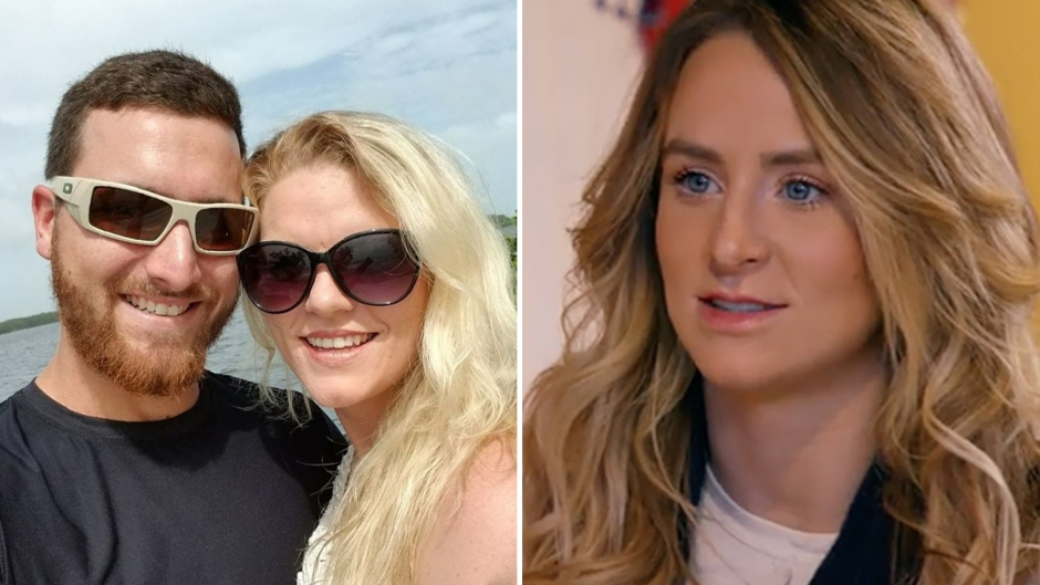 Victoria and Domenick Outdoors Wearing Sunglasses Smiling Split of Leah Messer