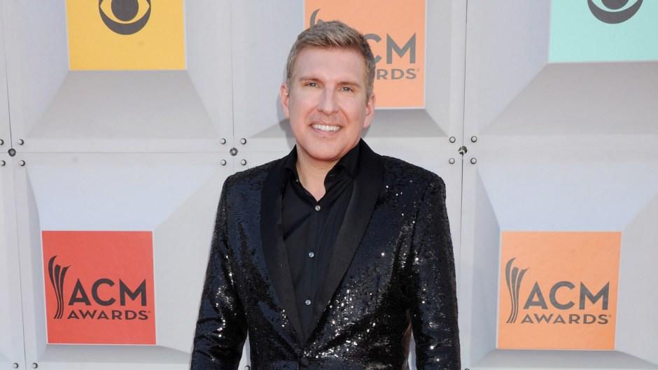 Todd Chrisley Wearing a Black Jacket