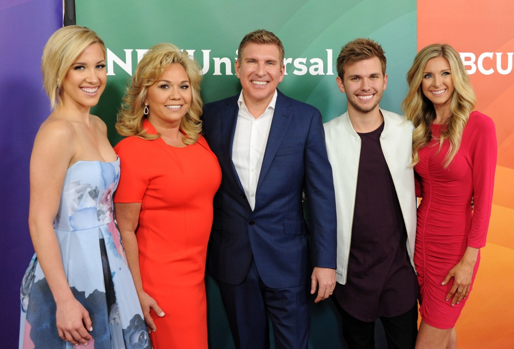 Todd Chrisley Wearing a Tuxedo With His Family on a Red Carpet