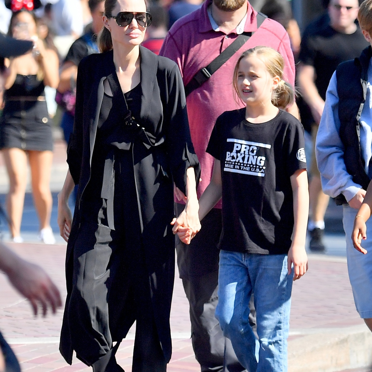 Angelina Jolie Takes Her 4 Youngest Kids to Disneyland After Dropping Maddox Off at College