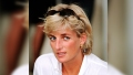 princess diana wears white shirt and sunglasses on top of her head in vintage photo from 1997