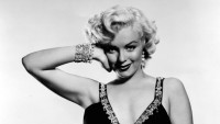 Marilyn Monroe Modeling Black and White Photo Podcast About Her Death