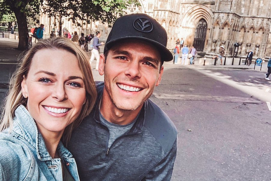 Amber Smith With Her Husband Granger Smith in England