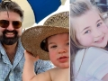 Side-by-Side Photos of Andrew Glennon with Son James and Leah Shirley with Sister Emmy