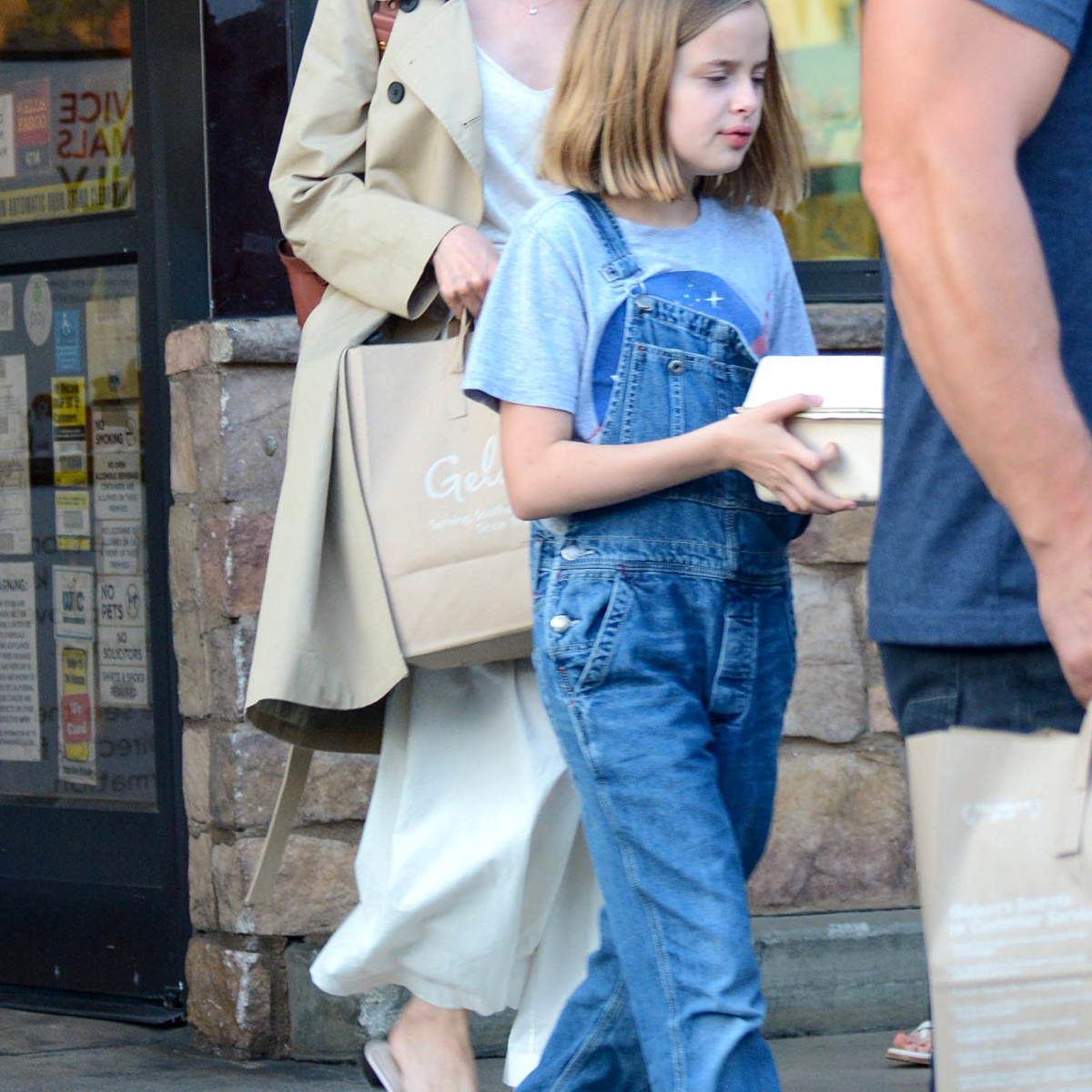 Angelina Jolie Goes Grocery Shopping With Her Daughters in L A