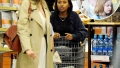 Angelina Jolie Goes Grocery Shopping With Her Daughters