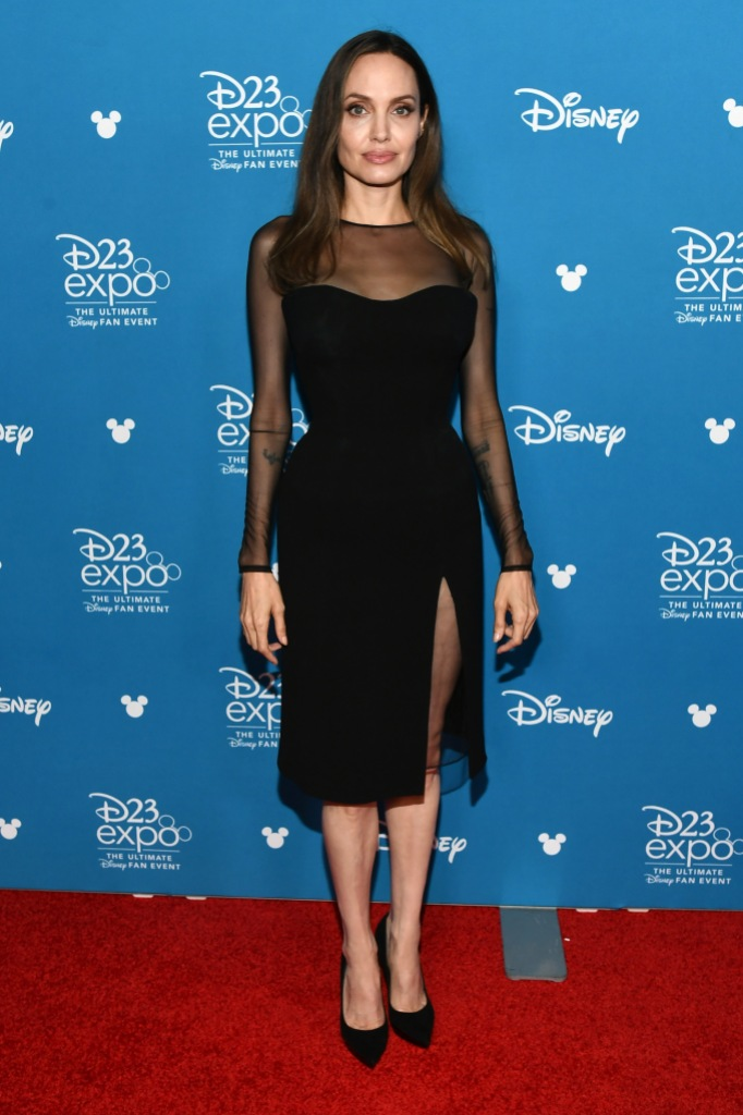 Angelina Jolie Wearing a Black Dress on the Red Carpet