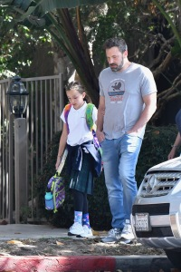 Hot Dad Alert! Ben Affleck Flexes His Muscles While Picking Up Seraphina From School