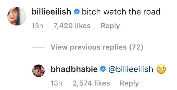 Billie Eilish Slams Danielle Bregoli Taking Video While Driving