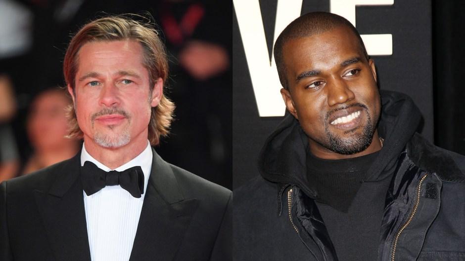 Brad Pitt Attends Kanye West's Sunday Service