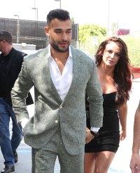 Britney Spears Rocks a Little Black Dress Alongside Boyfriend Sam Asghari at Daytime Beauty Awards