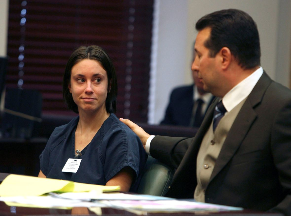 Casey Anthony and Attorney in Court