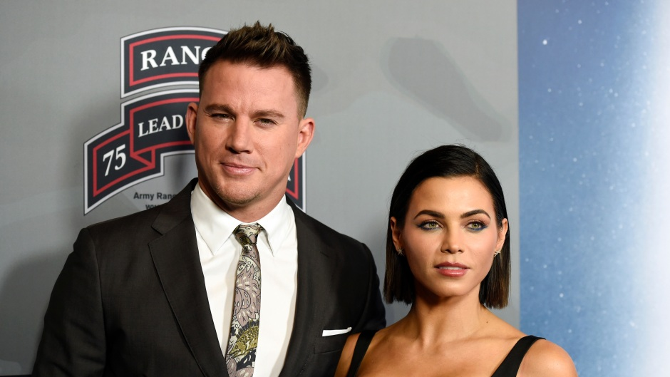 Channing Tatum Wearing a Suit With Ex-Wife Jenna Dewan in a Black Dress