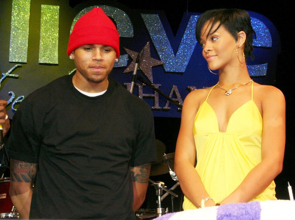 Chris Brown and Rihanna in 2008
