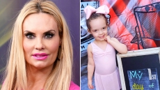 Coco Austin Closeup Smiling in Pink Shirt Split With Chanel In Ballerina Outfit At Dance Class