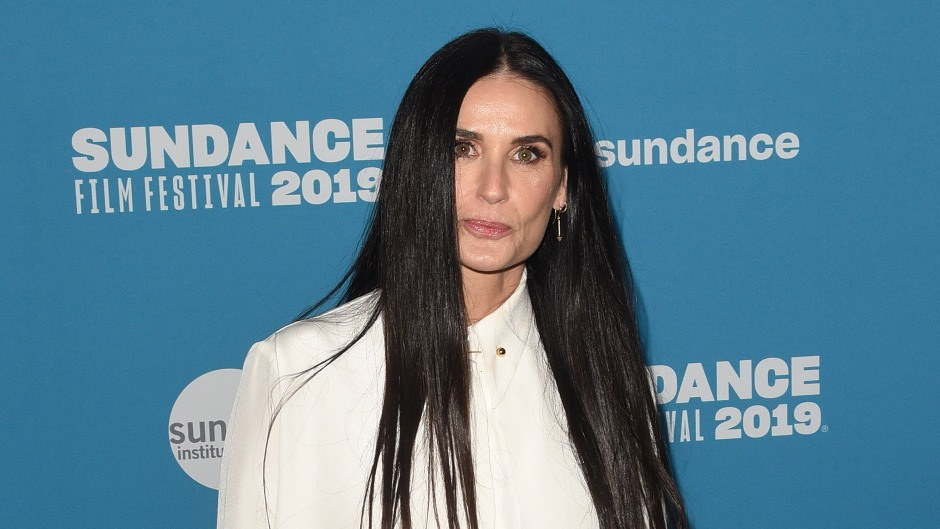 Demi Moore Poses in White on Red Carpet