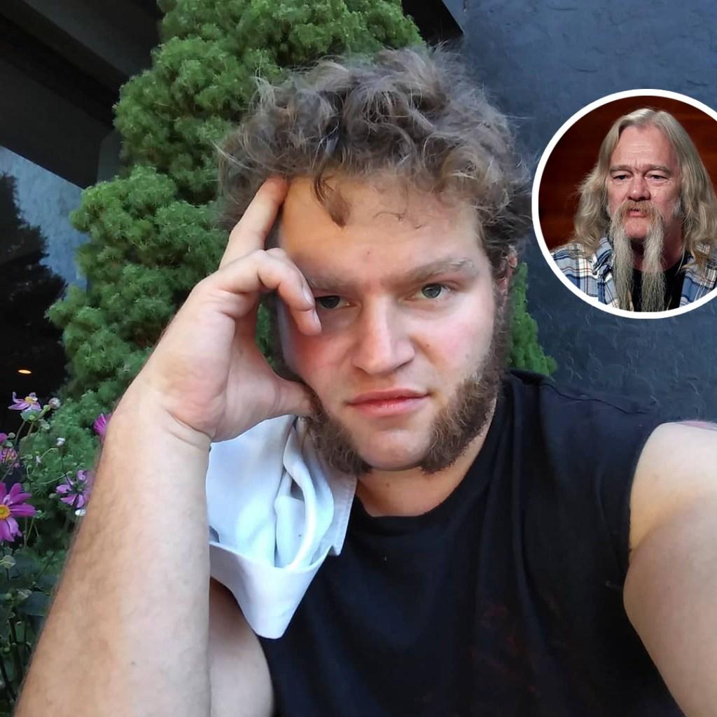 In-set Photo of Billy Brown over Gabe Brown Pensive Selfie