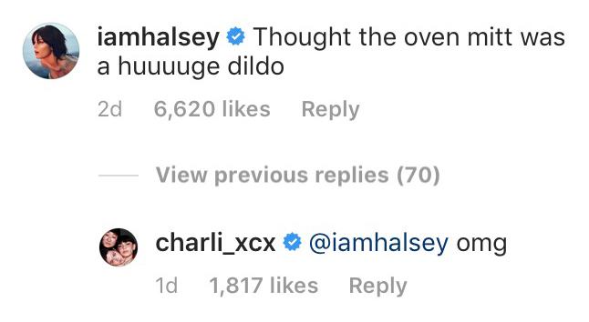 Halsey Comment Barbie Ferreira Instagram