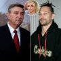 Jamie Spears Looking Serious Split With Kevin Federline and Inset of Britney Spears