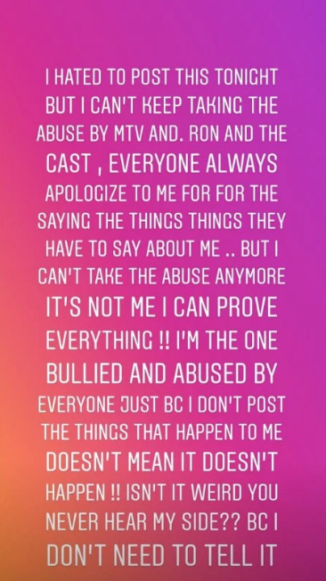 Jen Harley Going on a Rant on IG About Ronnie Ortiz-Magro