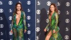 Jennifer Lopez in 2000s Grammy Awards Versace Gown