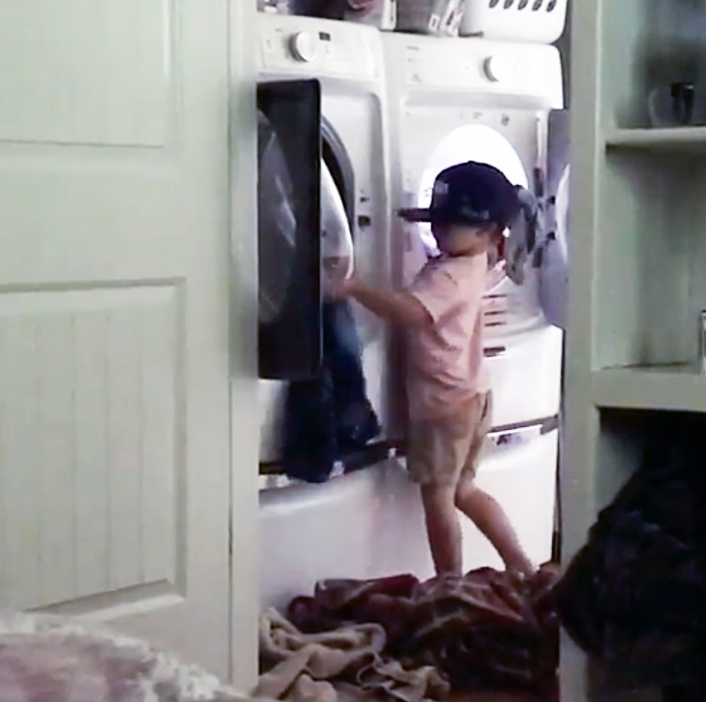 Such a Great Helper! Jessa Duggar's Son Spurgeon Assists With Laundry in Cute Clip
