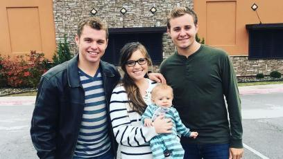 Joy-Anna Duggar Holds Son Gideon While Posing With Brothers