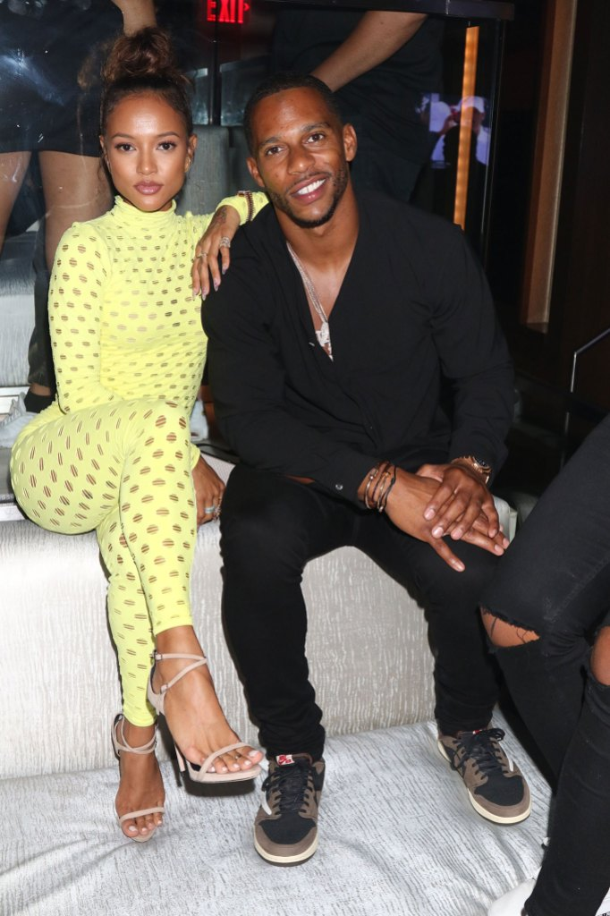 Karrueche Tran Tran & Victor Cruz at the The Legendary Night's Tour After Party, New York