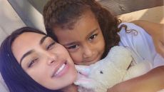 Kim Kardashian Hugging North West With Her Unicorn