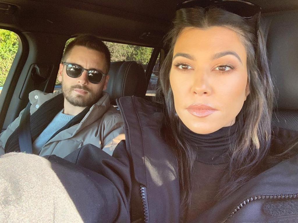 Kourtney Kardashian Takes Care Selfie with Scott Disick