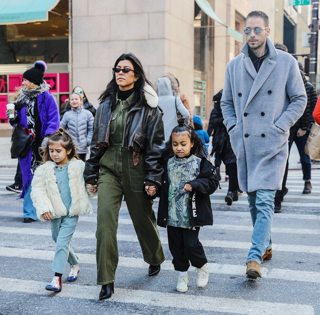 Kourtney Kardashian and family out and about, New York