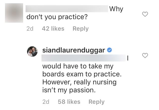 Lauren Swanson Says Nursing Isn't Her Passion