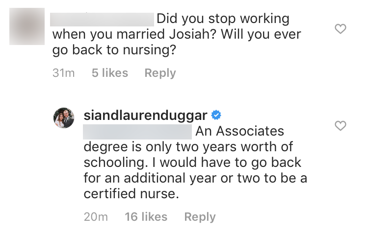 Lauren Swanson Says She Needs More Schooling to Be a Nurse