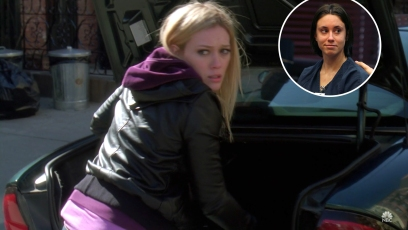 Photo of Casey Anthony over Screenshot of Hilary Duff on SVU